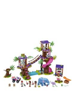 Friends Jungle reddingsbasis 41424; speelset waarmee je dieren kunt redden voor creatief speelplezier met een Jungleboom schuilplaats (648 onderdelen)