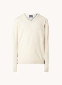 Fijngebreide pullover van lamswol