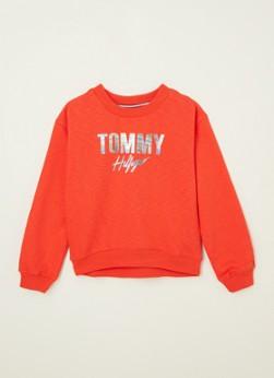 Tommy Hilfiger Sweater met holografische logoprint