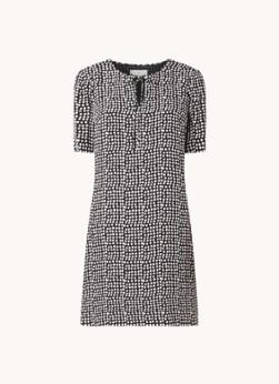 Hobbs Tamara mini jurk met stippenprint en strikdetail
