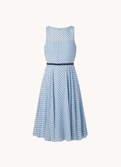 Hobbs Della mouwloze midi jurk met structuur