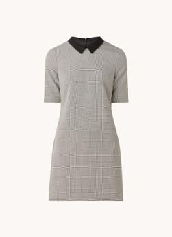 Hobbs Naima mini jurk met micro pied-de-poule dessin