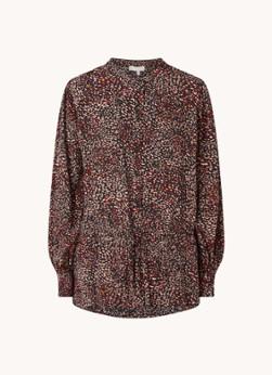 Hobbs Rosalia blouse met print en strikceintuur
