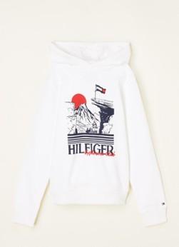 Tommy Hilfiger Hoodie met logo en frontprint