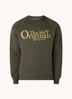 The New Originals Jazz Club sweater met logoprint