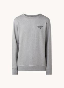 Denham Sweater in mêlée met logo