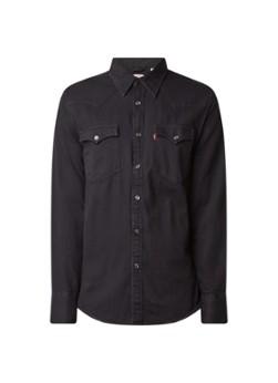 Levi's Barstow regular fit overhemd van denim met klepzakken