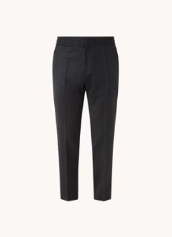 HUGO BOSS Howard tapered fit cropped pantalon van scheerwol