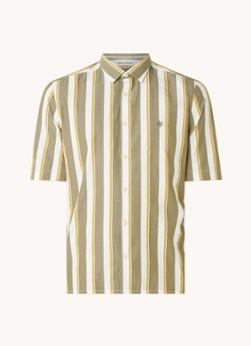 Marc O'Polo Regular fit overhemd in linnenblend met streepprint