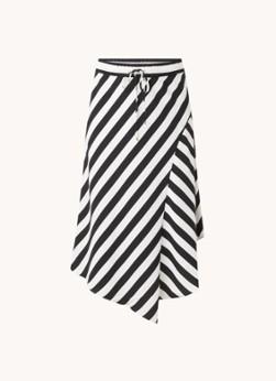 Ralph Lauren Asymmetrische midi rok met streepprint