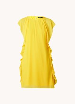 Ralph Lauren Mini jurk met ruches en keyhole