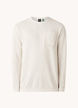 G-Star RAW Sweater van biologisch katoen met structuur