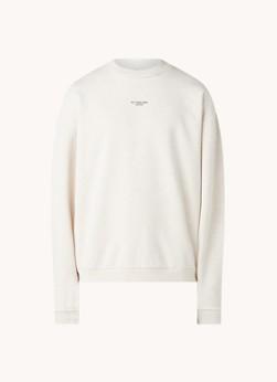 Drôle de Monsieur Sweater met tekstprint