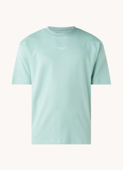 Drôle de Monsieur Oversized T-shirt met tekstprint