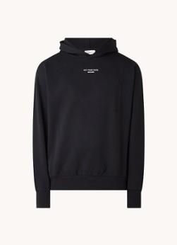 Drôle de Monsieur Oversized hoodie met tekstprint