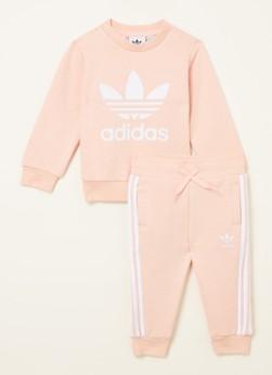 adidas Trefoil babyset met sweater en joggingbroek