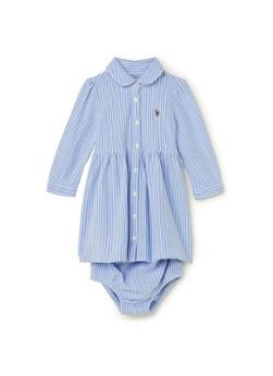 Ralph Lauren A-lijn jurk met streepprint en luierbroekje