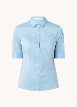 HUGO BOSS Bashini2 slim fit blouse van stretch katoen