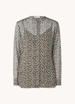 HUGO BOSS Bestory semi-transparante blouse met print