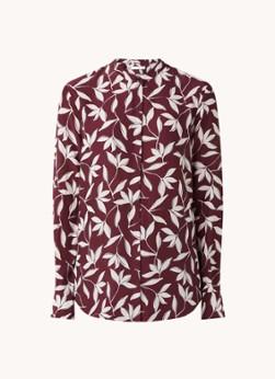 HUGO BOSS Befelize blouse in zijdeblend met bloemenprint