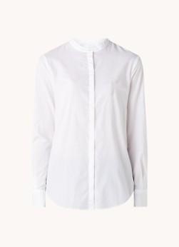 HUGO BOSS Befelize blouse met ronde hals