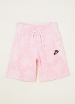 Nike Magic Club korte joggingbroek met tie-dye dessin en UV logoprint