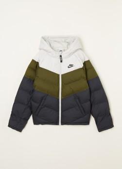 Nike Gewatteerd jack met colour blocking en capuchon