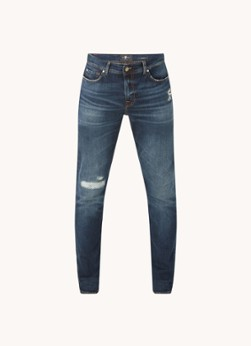 For All Mankind Ronnie skinny fit jeans met destroyed details