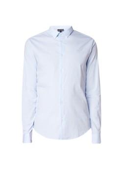 Emporio Armani Slim fit overhemd met kentkraag en stretch