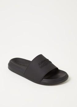 Alexander McQueen Oversized slipper met logo