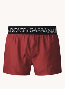 Dolce & Gabbana Zwemshorts met logoband en steekzakken
