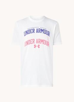 Under Armour Trainings T-shirt met HeatGear en logoprint