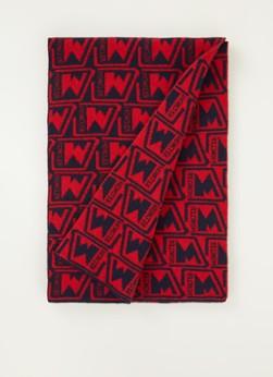 Moncler Sciarpa sjaal van wol met logoprint  x  cm