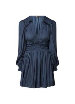 Maje Rianne mini jurk van satijn met ruches en smockwerk