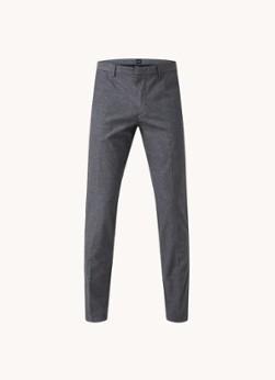 HUGO BOSS Kaito1 slim fit pantalon met stretch en microdessin