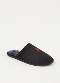 Ralph Lauren Klarence pantoffel met logo online kopen