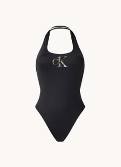 Calvin Klein Halter badpak met uitneembare vulling en logo