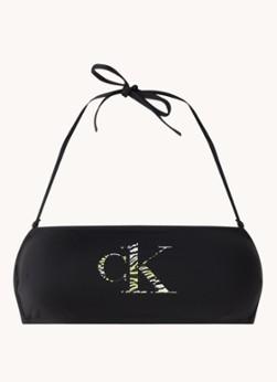 Calvin Klein Bandeau bikinitop met afneembare bandjes en uitneembare vulling