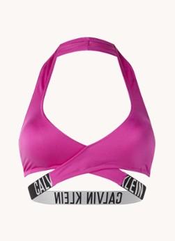 Calvin Klein Intense Power voorgevormde halter bikinitop