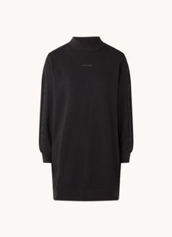 Calvin Klein Mini trui-jurk met logoband en opstaande kraag