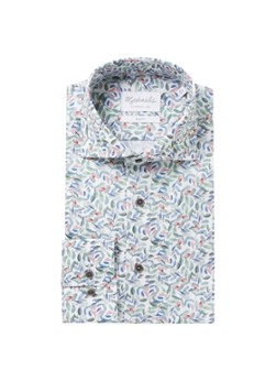 Michaelis Slim fit overhemd met bladprint