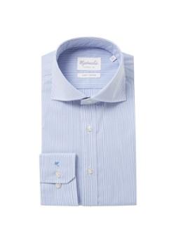 Michaelis Slim fit strijkvrij overhemd met streepprint