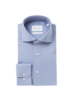 Michaelis Slim fit strijkvrij overhemd met microsdessin en stretch