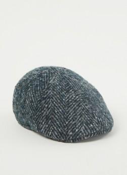Stetson Texas flat cap van wol