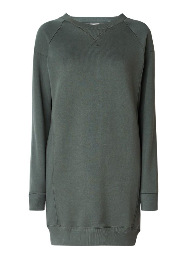 America Today Drew sweaterjurk met siernaden legergroen