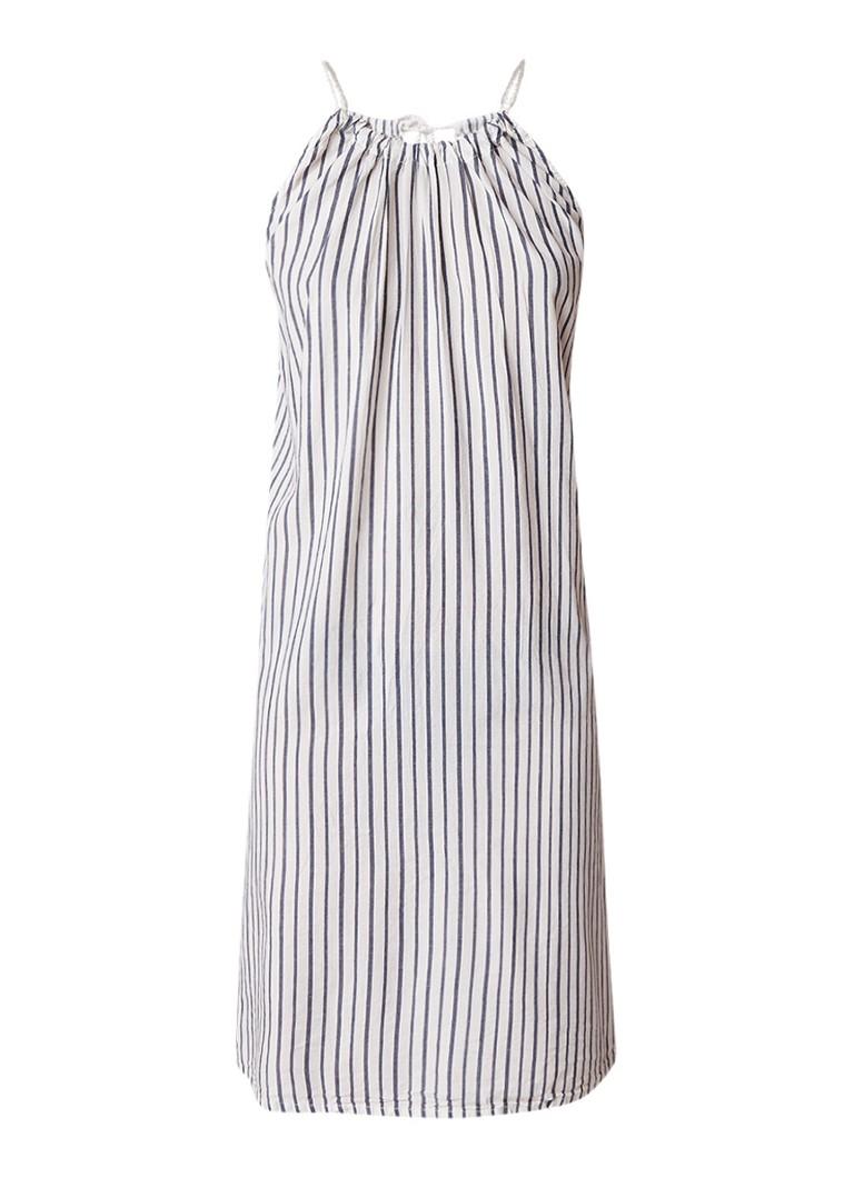 America Today Dallas jurk van katoen met streepdessin gebroken wit