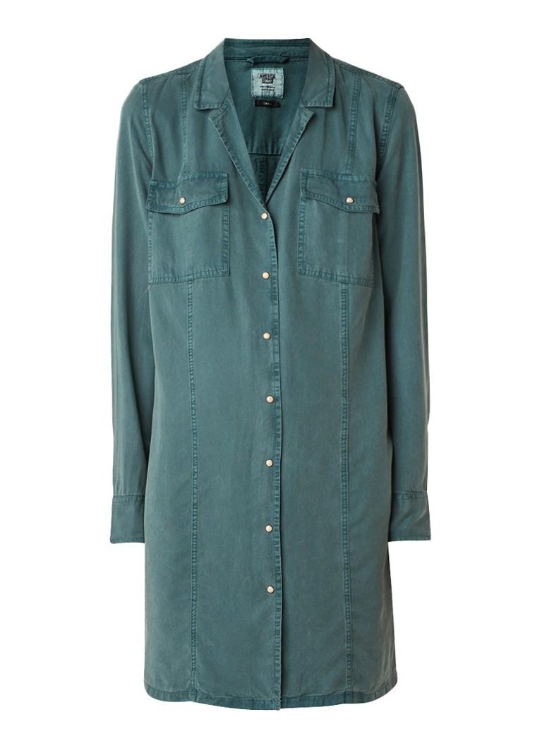 America Today Doreen blousejurk met borstzakken khaki