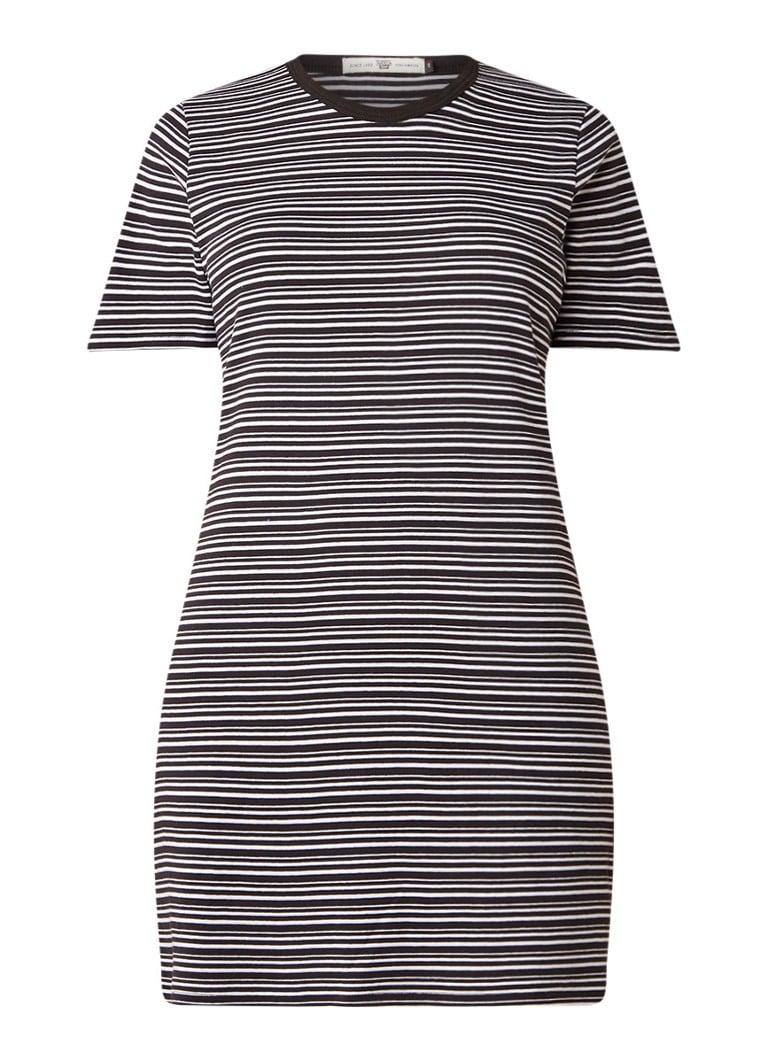 America Today Dyna T-shirt jurk met streepdessin wit