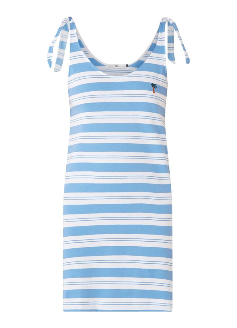 America Today Dacey mini-jurk van jersey lichtblauw