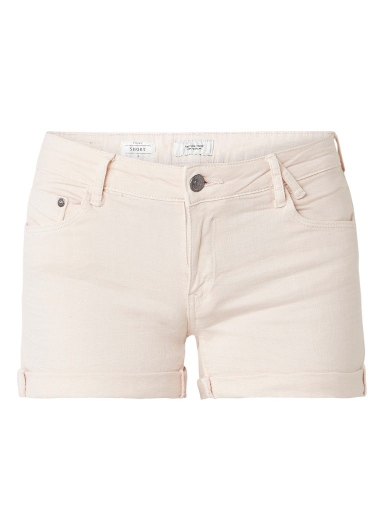 America Today Lacey denim shorts met opgerolde broekspijp